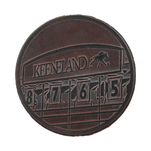 Clayton & Crume Keeneland 4-Pack Leather Coasters