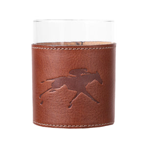 Clayton & Crume Keeneland Leather Wrapped Glass