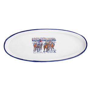 Stoneware & Co. Keeneland Final Turn Oval Tray
