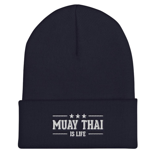 Bonnet Muay Thaï is Life BU-MT12 Bleu Marine