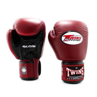 Gants de Boxe Twins Air Flow Noir/Bordeaux 8 oz