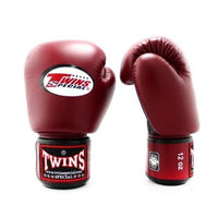 Gants de Boxe Twins Air Flow Noir/Bordeaux