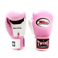 Gants de Boxe Twins Air Flow Rose/Blanc Univers Boxe