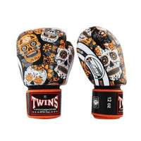 Gants de Boxe Twins Skull FBGVL3-53 Noir/Orange Univers Boxe