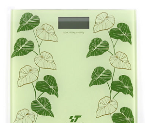 Vines LCD Digital Bathroom Body Weight Scale Tempered Glass with CR2032 Battery