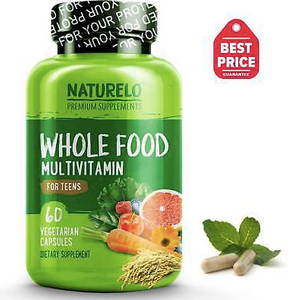 NATURELO Whole Food Multivitamin for Teens - 60 Capsules