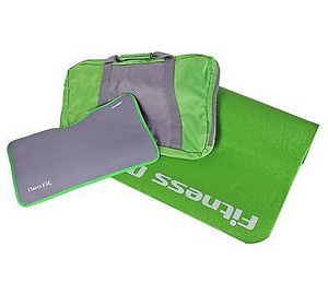 3 In 1 Yoga Mat Bundle W/ Carrier