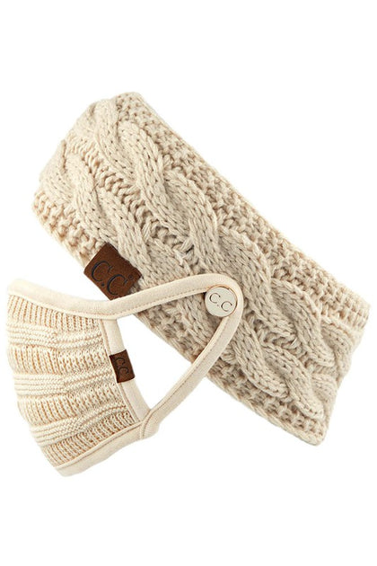 CC Ribbed Knit Headband