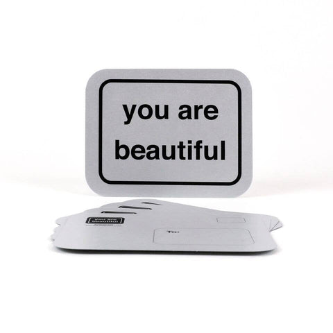 You Are Beautiful - Silver Postcards - Pack of 5
