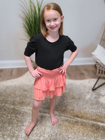 Girls Ruffle Tiered Skirt
