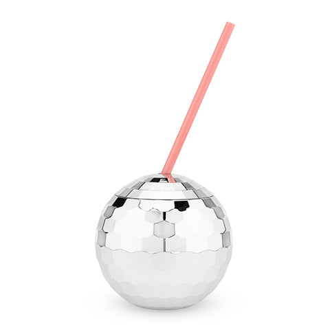 Silver Disco Ball Drink Tumbler