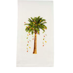 Palm Tree with Lights Dishtowel