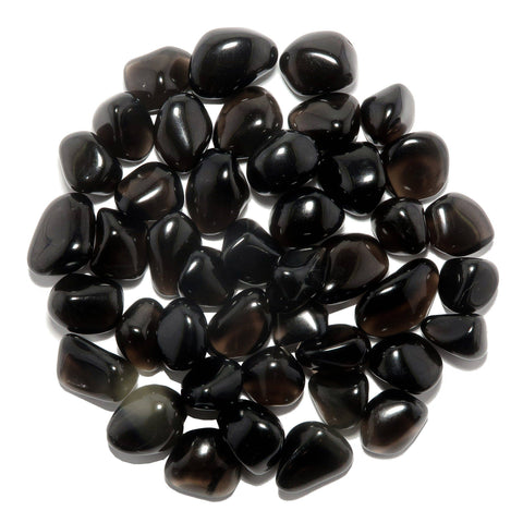 Liv Rocks - Tumbled Black Obsidian - Polished Stones