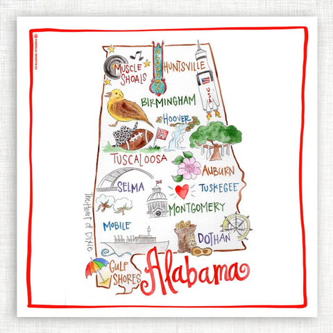 State of the Heart Kitchen Towel