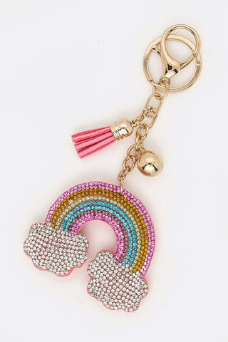 Crystal Rainbow Key Chain