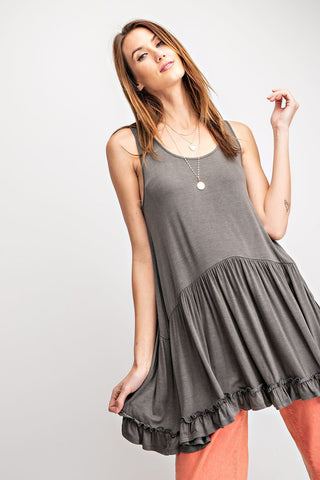 Ruffled Tunic Tank