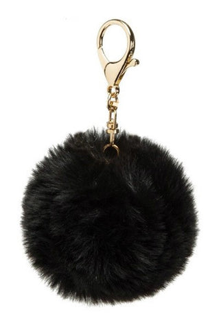 Faux Fur Pompom Key Ring