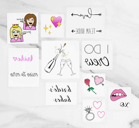Bride To Be Pack - Temporary Tattoos