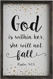 """God is within her..."" sign"