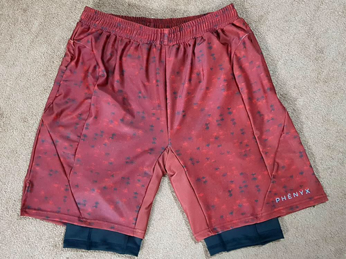 [PRE-ORDER] Phēnyx Training Shorts w/ Compression - Red