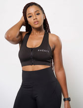 Phēnyx Zipper Sports Bra - Black