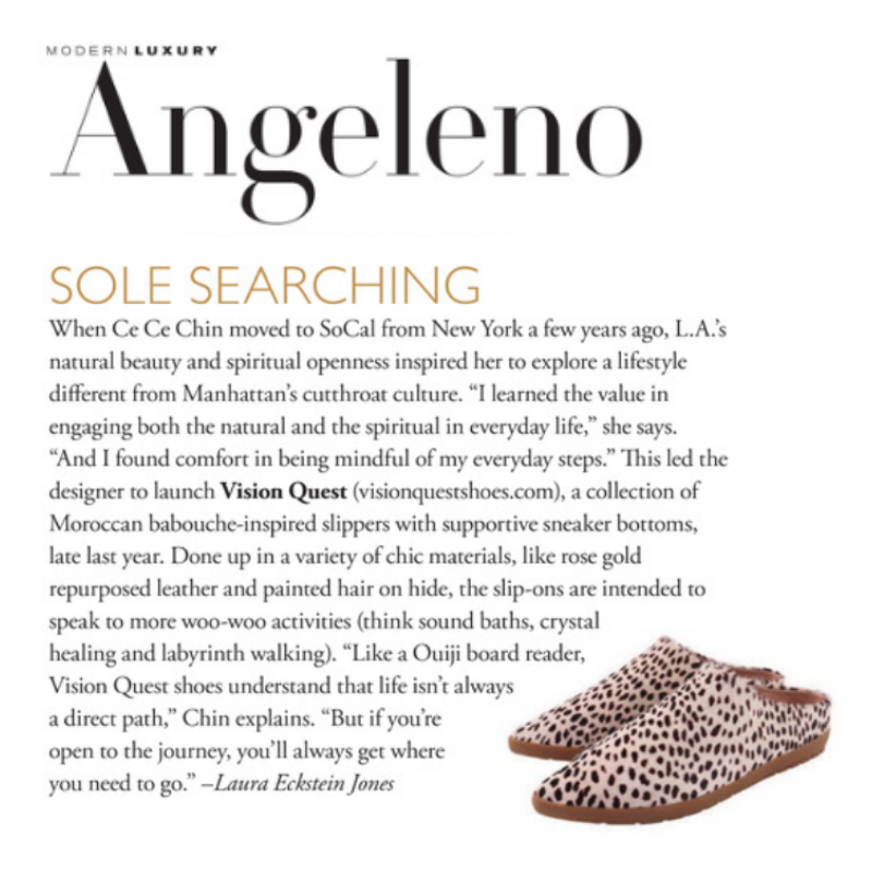 As seen in Angeleno Magazine