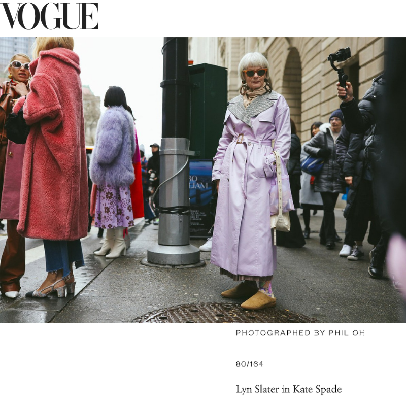 As Seen in Vogue Street Style, Lyn Slater wering Vision Quest Shoes