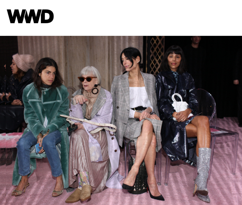 As seen in WWD, in the Front Row at New York Fashion Week