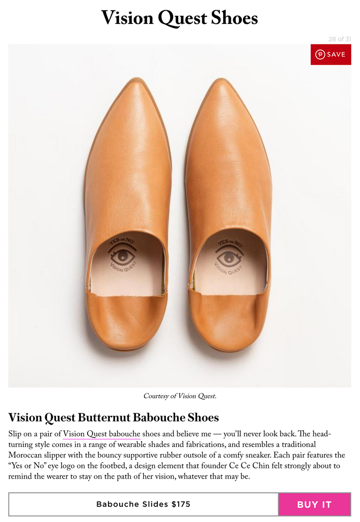 Stylecaster Fashion Feature Asian American owned Fashion businesses, Vision Quest Shoes Babouche Babouces