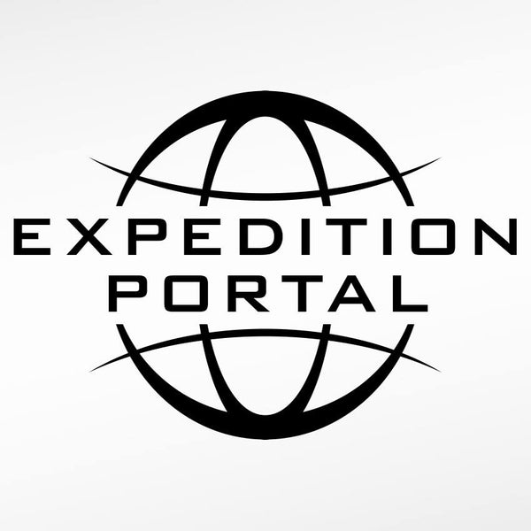 expedition portal logo, black, white