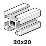 20x20mm Aluminum Extrusions; Square with T-slots; Mini Extrusion; Bosch Rexroth