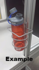 3842540429; work station water bottle holder,  cup holder, mug holder, wire bottle holder