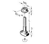 Fasteners; T-Bolt and Nut kit; Steel; EZ turn and lock; select thread size for 8 mm or 10 mm t-slot