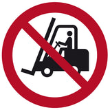 """No Forklift Traffic"" Floor Safety Symbol"
