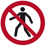 """No Pedestrian Traffic"" Floor Safety Symbol"