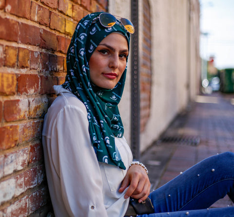 Officially Licensed Michigan State University Pleated Hijab