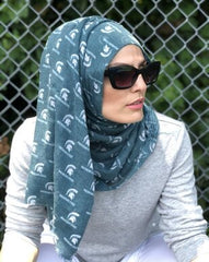 Officially Licensed Michigan State University Cotton Hijab