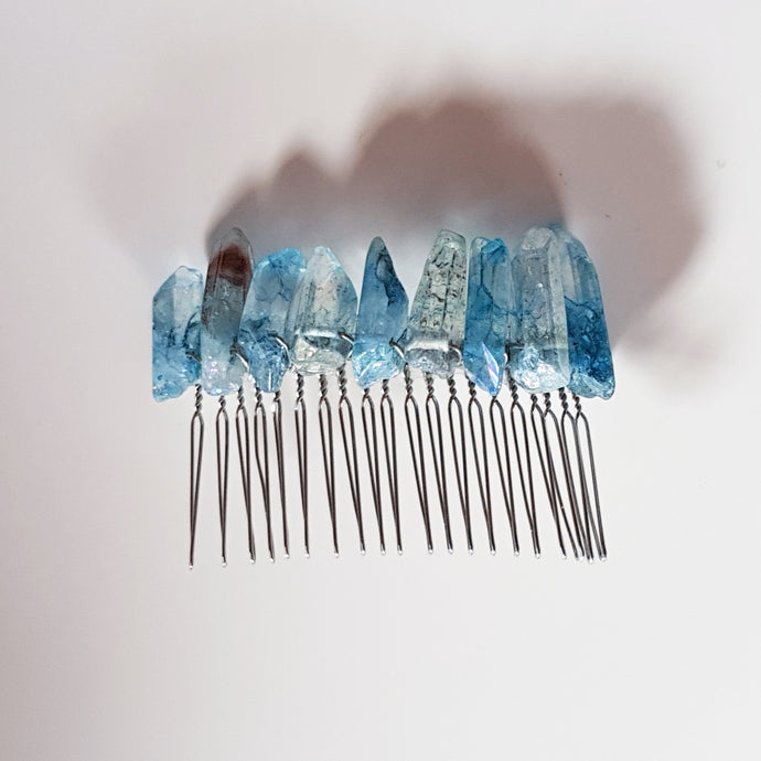 Blue | Crystal Hair Comb | Love, Maddy