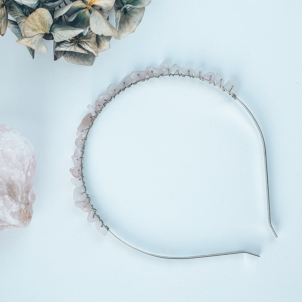 Rose Quartz | Crystal Headband | Love, Maddy
