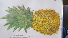 watercolor pineapple painting