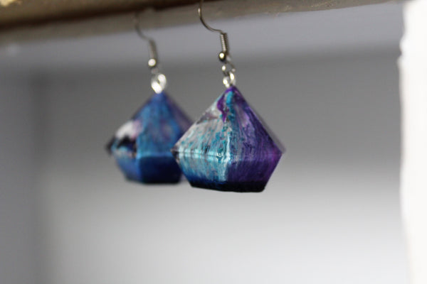 Blue Dreams - Drippy Trippy Gem Earrings