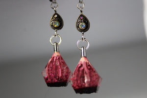 Mini Rosy Dreams- Drippy Trippy Gem Earrings