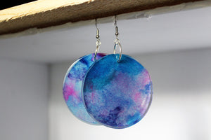 Serene - Abstract Art Circle Earrings