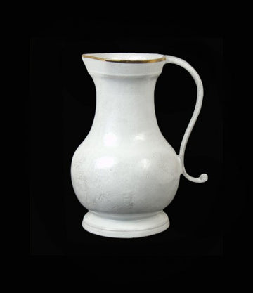 ASTIER DE VILLATTE Colbert Pitcher with Gold Rim