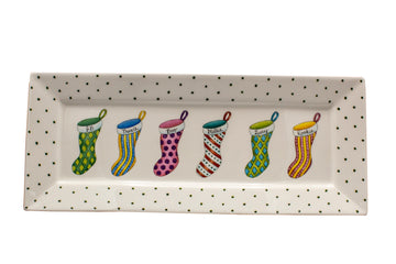 PERSONALIZED CHRISTMAS STOCKING TRAY EXCLUSIVELY AT A MANO