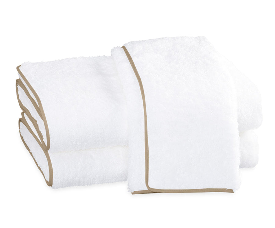 CAIRO WITH STRAIGHT PIPING BATH TOWELS BY MATOUK