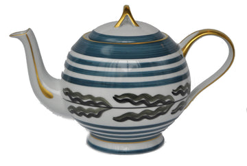 LIMOGES PORCELAIN EXPOSITION TEA POT BY MARIE DAAGE