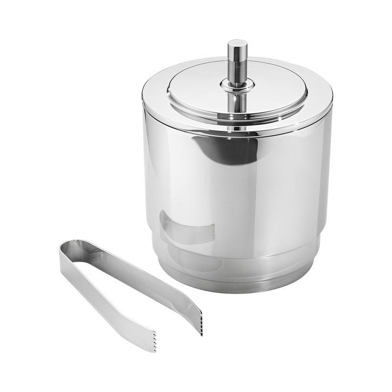 MANHATTAN ICE BUCKET & TONGS BY GEORG JENSEN