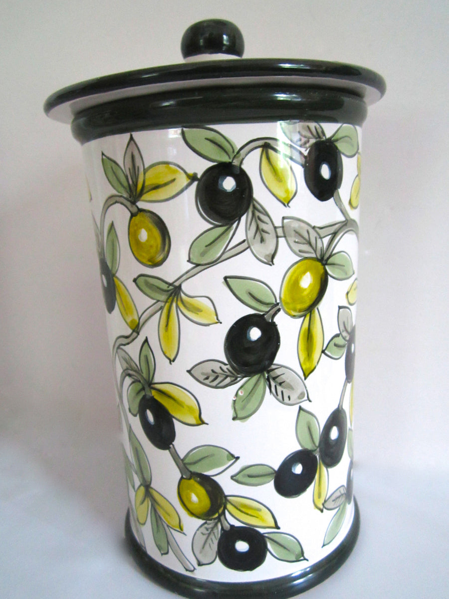 Tuscan Ceramics Canisters - Olives