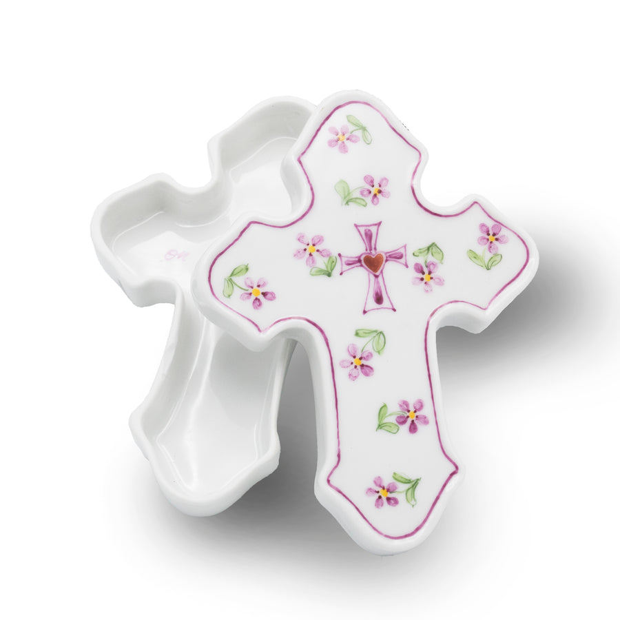 Porcelain Cross Box - By Ann Marie Murray